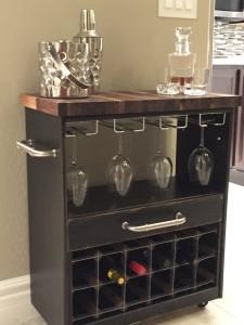 IKEA RAST dresser hack wine cart