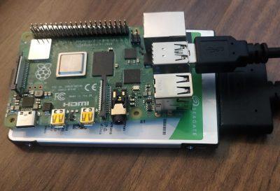 Raspberry Pi 4 with Hard Drive