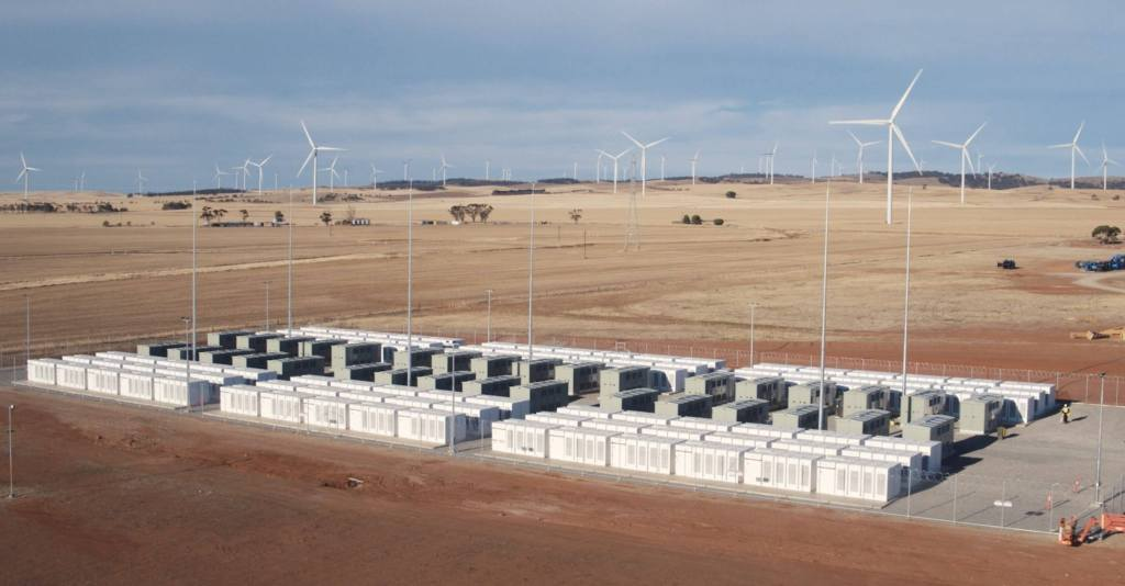 Tesla Powerpack facility in Hornsdale, South Australia - Photo Credit: Tesla