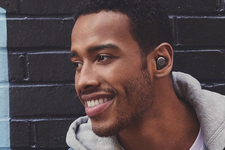 jabra elite 75t true wireless earbuds lead male titanium black wall