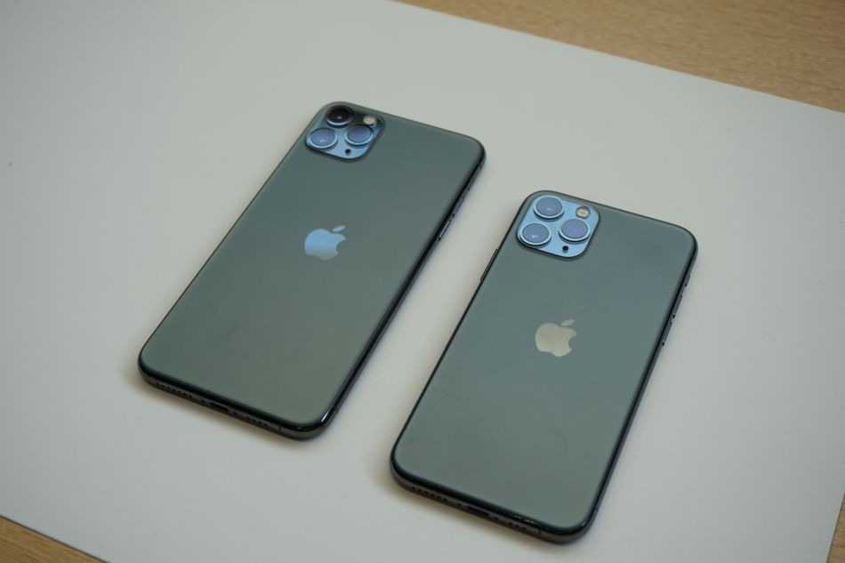 The iPhone 11 Pro Max and iPhone 11 Pro in new Midnight Green.