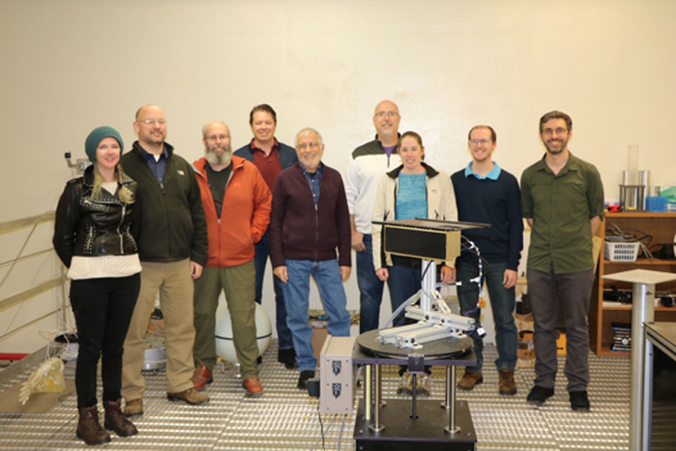 Dr. Hardgrove (far right) with the LunaH-Map team at ASU.