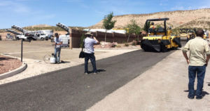 Los Angeles is working with TechniSoil Industrial to repave a road using a mixture of recycled plastic and existing asphalt.