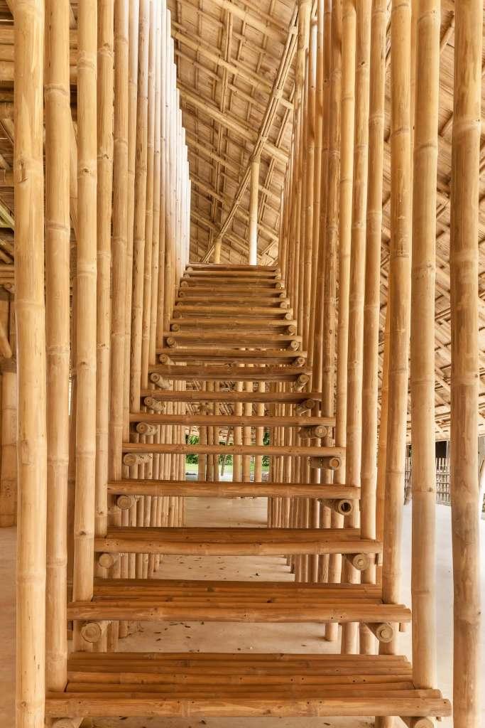Bamboo stairs