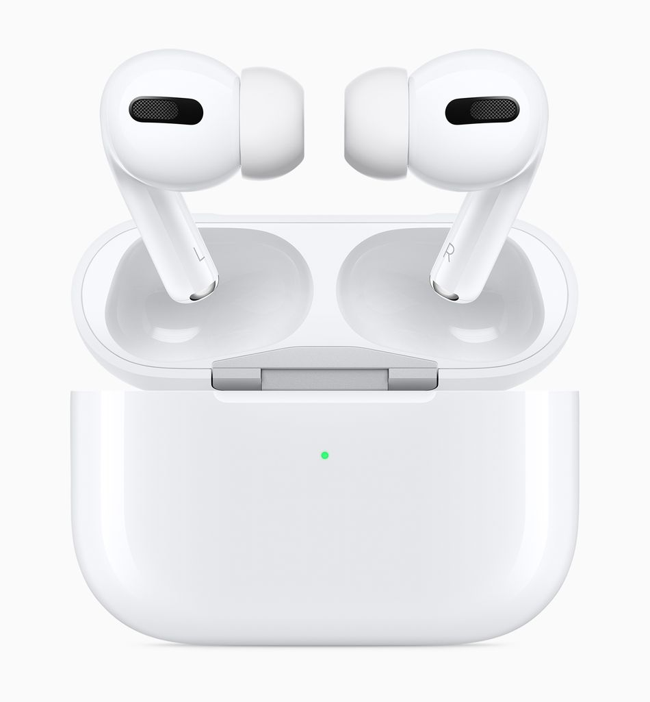 The charging case for AirPods Pro looks different than previous models.